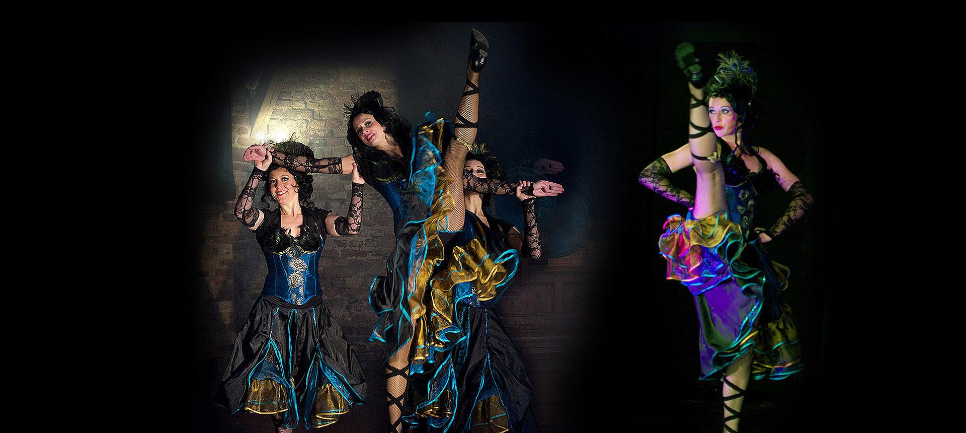 Schwungvolle Cancan Tanzshow